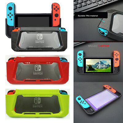 TPU Hybrid Protective Case Rubberized Snap on Hard Cover For Nintendo Switch New