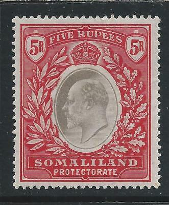SOMALILAND 1904 5r GREY-BLACK & RED MM SG 44 CAT £70