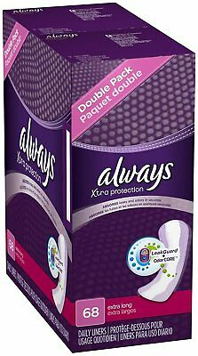 Always Driliners Pantiliners Extra Long Unscented For Sizes 14+