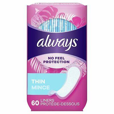 Always Dailies Liners Thin Regular 60 Count