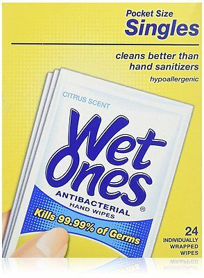 Wet Ones 24ct Citrus Size 24ct Wet Ones Citrus Scent Antibacterial Wipes...