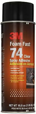 3M Foam Fast 74 Spray Adhesive Clear, Net Fill: 16.9 fl Ounce Pack of 1