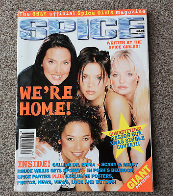 Extremely Rare and Collectable-SPICE GIRLS MAGAZINE-ISSUE 7-First non Geri Cover