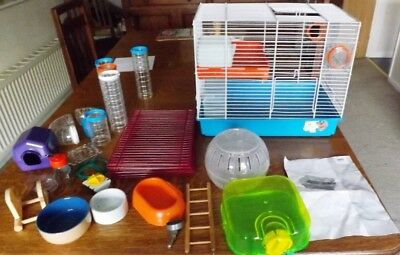 Hamster Cage and lots of accessories - nearly new