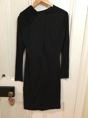 Jasmine Di Milo Black Silk Designer Cocktail Dress - Brand New With Tags - UK10