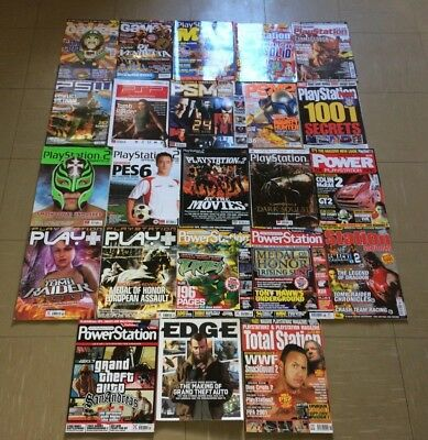 *23* PlayStation Magazine Bundle Max Planet Power Extreme PS2 PSP PS1 Edge Total