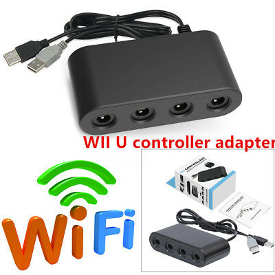 4 Port Gamecube NGC Controller Adapter System Trim Fit For Nintendo Wii U&Switch