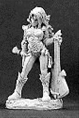 Astric, Female Chronicler (Bard) Pewter Miniature 03098