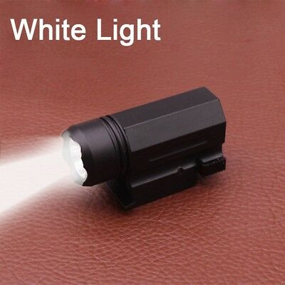 Tactical Mini White LED Flashlight For 20mm Quick Release Picatinny Rail Mount