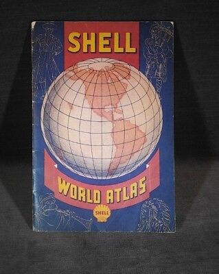 Shell World Atlas Vintage Antique Early 19th Century MS55