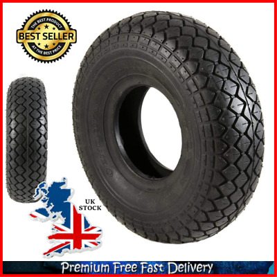1 Black Air Filled Pneumatic Block Tread Mobility Scooter Tyre 330X100 Single UK