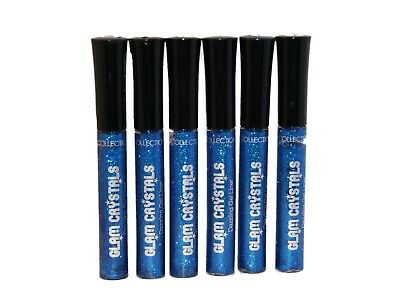 3 x Collection 2000 Glam Crystals Dazzling Gel Liner | Night Fever | Blue