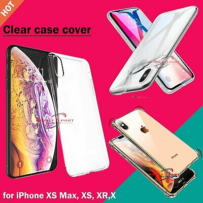 Ultra Thin Slim Shockproof Silicone Clear Case Cover for iPhone XS MAX XR X UK