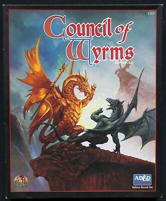 Advanced Dungeons & Dragons (2nd Ed.) - Council of Wyrms. Deluxe Boxed Set