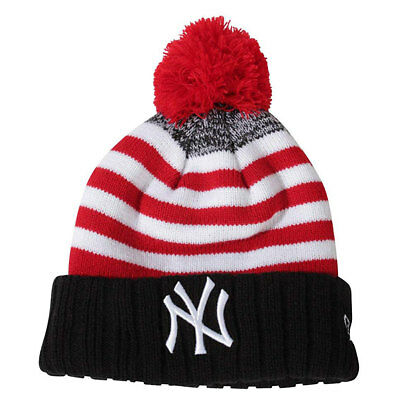 New Era MLB New York Yankees Snowfall Stripe 2 Kids Baseball Bobble Hat rrp£20