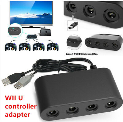 4 Port Type Gamecube NGC Controller Adapter Fit For Nintendo Wii U & Switch Kit