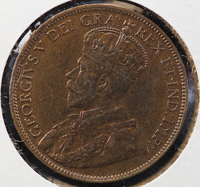 1918 Canada Large Cent KM# 21 Red Brown
