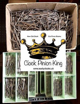 New Old-stock Steel Clock Pinion Arbor Blanks - Your Choice of (4)