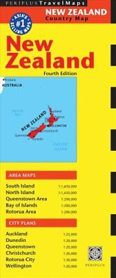 New Zealand Travel Map Fourth Edition by Periplus Editions 9780794607708