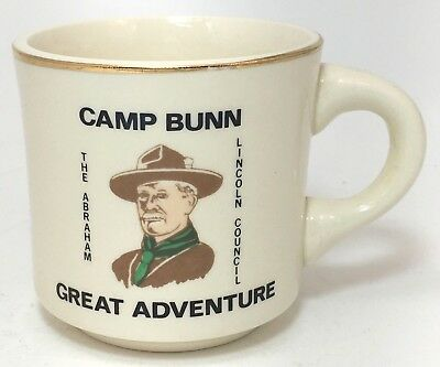 ⚜ Boy Scout BSA Camp Bunn Abraham Lincoln Council Mug Vintage Cup USA