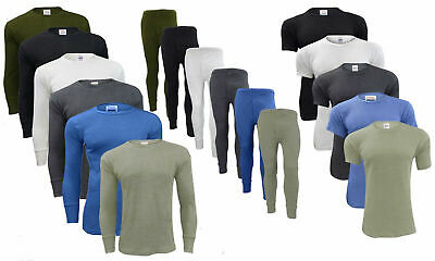 Men's Thermal Long Johns Bottoms Trousers Long & Short Sleeve T Shirt Top