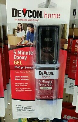 DEVCON 5 Minute Epoxy High Strength 1500 PSI S208 21045 CREAM