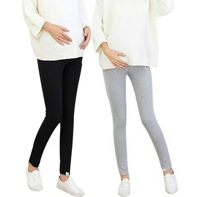 Maternity Pregnancy Soft Leggings Pants Comfortable Casual Trousers Ankle Length