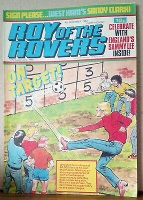 Roy of the Rovers Comic in very good condition dated 4th December 1982