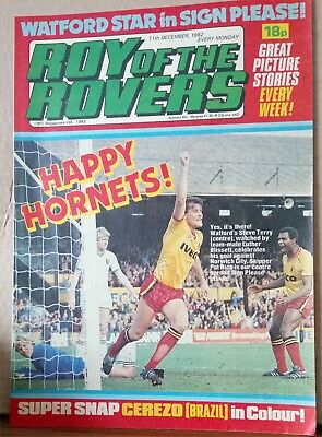 Roy of the Rovers Comic in very good condition dated 11th December 1982
