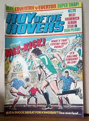 Roy of the Rovers Comic in very good condition dated 18th December 1982