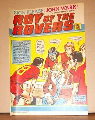Roy of the Rovers Comic in very good condition dated 21st February 1981