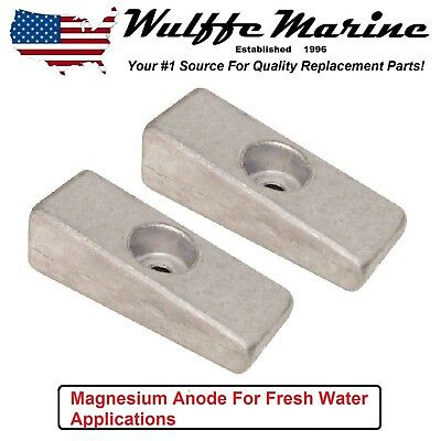 Magnesium Side Pocket Wedge Anode 2 pack Mercury Outboard 826134 826134Q 18-6068