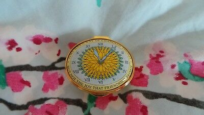 Halcyon Days Enamel Box ~ 'Time Has A Way Of Changing Things...Friends' ~ Boxed