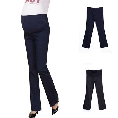 Maternity Pregnancy Business Pants Over Bump Comfortable Trousers Adjustable New