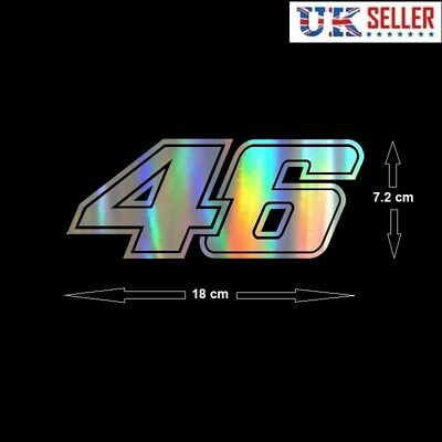 18CM Large - Valentino Rossi 46 Sticker, Decal, Motorbike The Doctor MotoGP VR46