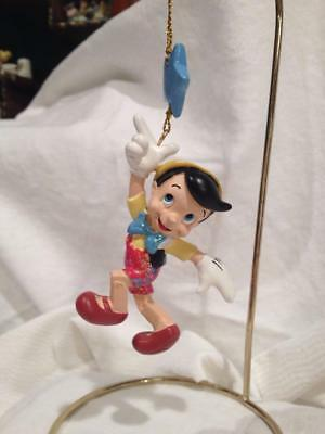 New in Box Disney Store PINOCCHIO Figure With Star Sparkle Ornament MINT