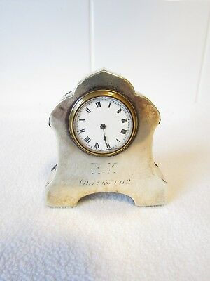 Art Nouveau Silver Desk Clock Jay & Richard Attenborough Co Ltd Chester 1906