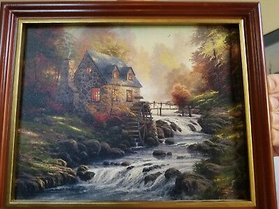 "*LIMITED* *Thomas Kinkade* ""Autumn Harvest""Canvas Painting. *Signed *Certificate"