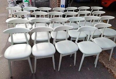 2 x Strong wood Dining Chairs Padded Pub Cafe Bar Coffee Shop Restaurant SUSSEX
