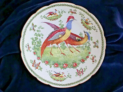 Antique 'Sevres' Cabinet Plate 'Meissen' Style Birds Insects Gilt Edge