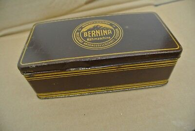 Vintage Bernina sewing machine accessories tin/container