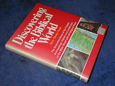 DISCOVERING THE BIBLICAL WORLD Harry Thomas Frank HB 1st 1975. Israel, Palestine