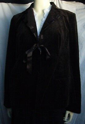 A Pea In The Pod Maternity Tie Front Brown Corduroy Jacket Blazer Size M