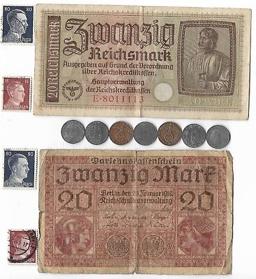 Rare Old Orig WWI WWII Germany War Note Coin WW2 Vintage Collection Lot US SHIP