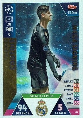 Topps Match Attax Champions League 2018/2019 Mega Signing Coutois 422