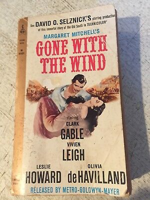 Gone with the Wind Margaret Mitchell 1963 Perma Bk M9501 Clark Gable Movie