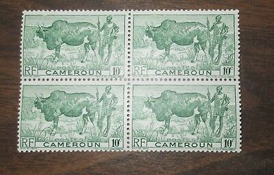 Postage Stamps From Cameroon / Cameroun - block of 4 - Mint Never Hinged