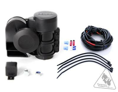 Denali SoundBomb Dual-Tone Air Horn kit with wire harness (non-BMW)
