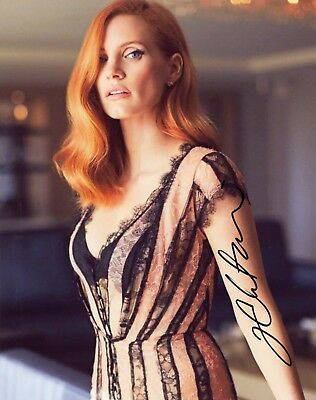 """~~ JESSICA CHASTAIN Authentic Hand-Signed """"BEAUTIFUL"""" 8x10 Photo D~~"""