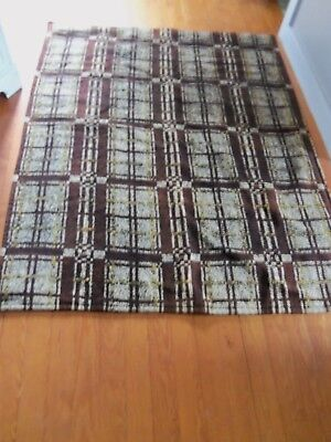 """Large Antique 'Chase mfg' All Wool Sleigh Lap Blanket, Large  66"""" x 63"""""""